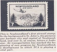 tmb newfoundland airmail stamp