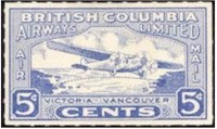 tmb bc airways 1928 stamp