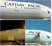 tmb mispelt cathay aircraft