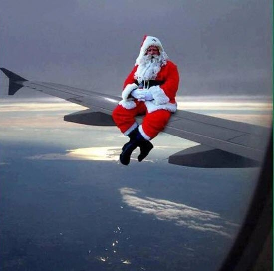 Santa on the Wing