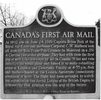 tmb 550 canada first airmail plaque